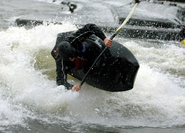 Ed Hopper testing a Saint prototype at Hurley, UK